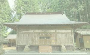 白鳥神社の杉